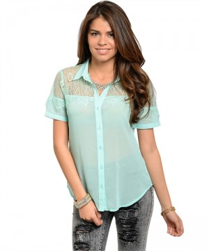MINT WITH LACE TOP