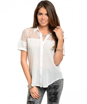 WHITE WITH LACE TOP